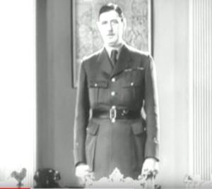 L'appel à la résistance de Charles de Gaulle pendant la seconde guerre mondiale (18 juin 1940)